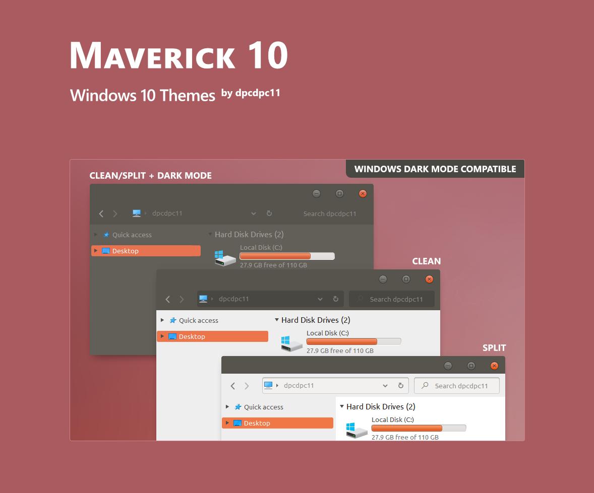 Maverick 10 - Windows 10 Themes (4 in 1)