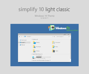Simplify 10 Light Classic - Windows 10 Theme by dpcdpc11