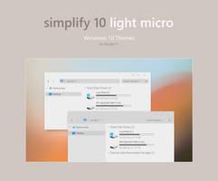 Simplify 10 Light Micro - Windows 10 Theme by dpcdpc11