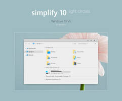 Simplify 10 Light Circles - Windows 10 Theme by dpcdpc11