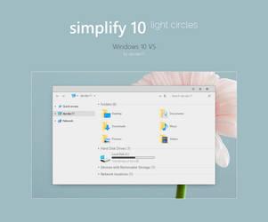 Simplify 10 Light Circles - Windows 10 Theme by dpcdpc11