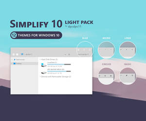 Simplify 10 Light - Windows 10 Theme Pack