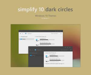 Simplify 10 Dark Circles - Windows 10 Theme by dpcdpc11