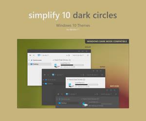 Simplify 10 Dark Circles - Windows 10 Theme