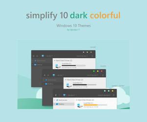 Simplify 10 Dark Colorful - Windows 10 Theme by dpcdpc11