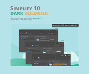 Simplify 10 Dark Colorful - Windows 10 Themes