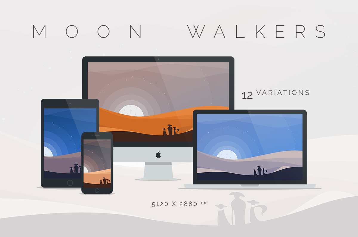 Moon Walkers Wallpaper 5120x2880px by dpcdpc11