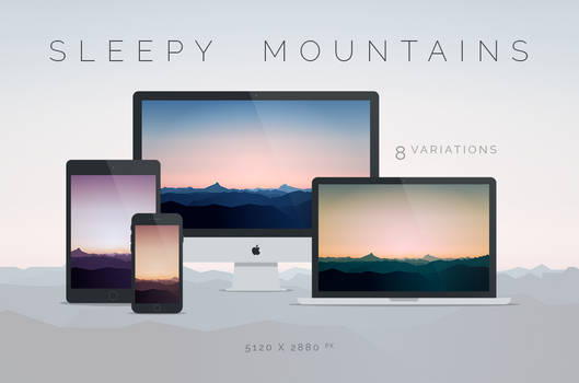 Sleepy Mountains Wallpaper 5120x2880px by dpcdpc11