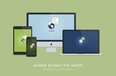 I'm Earth Wallpaper (desktop and mobile) by dpcdpc11