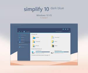 Simplify 10 Dark Blue - Windows 10 Theme by dpcdpc11
