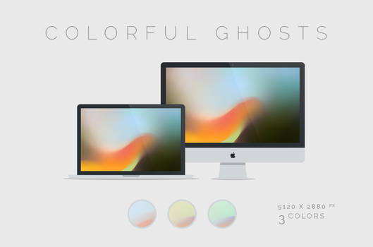 Colorful Ghosts Wallpaper 5120x2880px