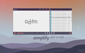 Simplify Dark Purple for PotPlayer by dpcdpc11