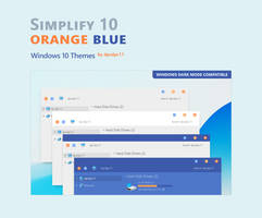 Simplify 10 Orange Blue - Windows 10 Themes