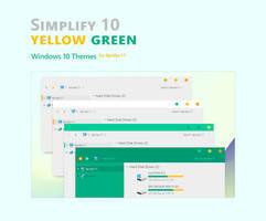 Simplify 10 Yellow Green - Windows 10 Themes