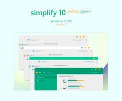 Simplify 10 Yellow Green - Windows 10 Themes by dpcdpc11