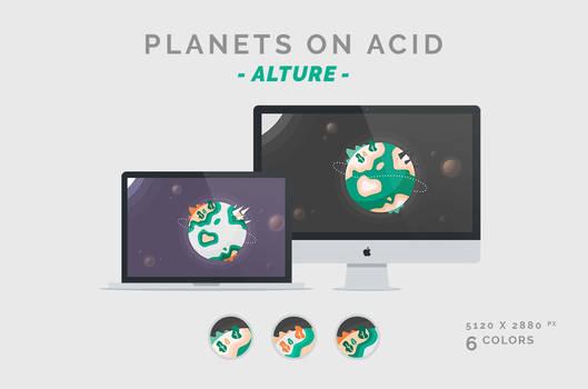 Planets on Acid 'ALTURE' Wallpaper 5120X2880px