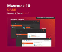 Maverick 10 Dark - Windows 10 Theme