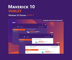 Maverick 10 Violet - Windows 10 Themes (3 in 1)