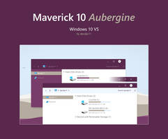Maverick 10 Aubergine - Windows 10 Theme