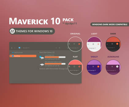 Maverick 10 - Windows 10 Theme Pack (22 in 1)