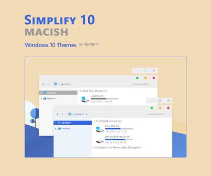 Simplify 10 Macish - Windows 10 Themes