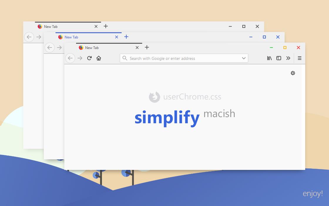Simplify Macish for Firefox (userChrome css) by dpcdpc11 on DeviantArt