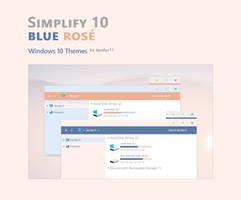 Simplify 10 Blue Rose - Windows 10 Themes