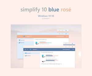 Simplify 10 Blue Rose - Windows 10 Theme