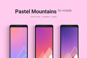 Pastel Mountains Mobile Wallpaper by dpcdpc11