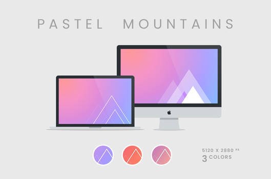 Pastel Mountains Wallpaper 5120x2880px