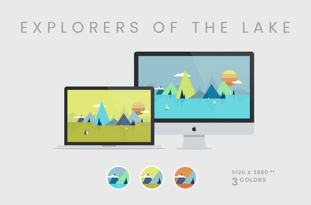 Explorers of the Lake Wallpaper 5120x2880px