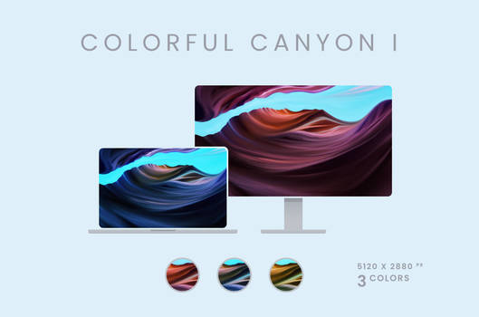 Colorful Canyon I Wallpaper Pack 5120x2880px