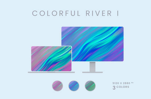 Colorful River I Wallpaper Pack 5120x2880px