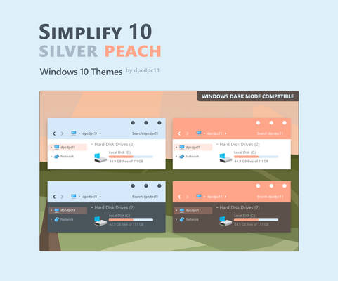 Simplify 10 Silver Peach - Windows 10 Themes