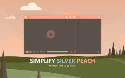 Simplify Silver Peach for PotPlayer