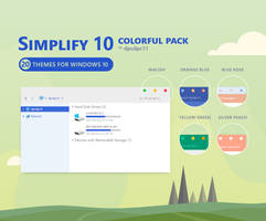 Simplify 10 Colorful - Windows 10 Theme Pack