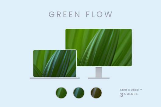 Green Flow Wallpaper Pack 5120x2880px