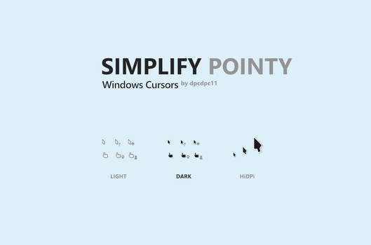 Simplify Pointy - Windows Cursors