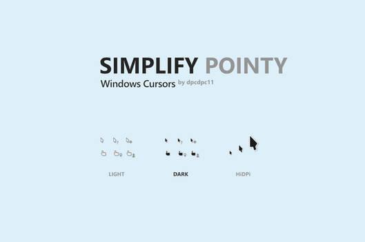 Simplify Pointy Windows Cursors