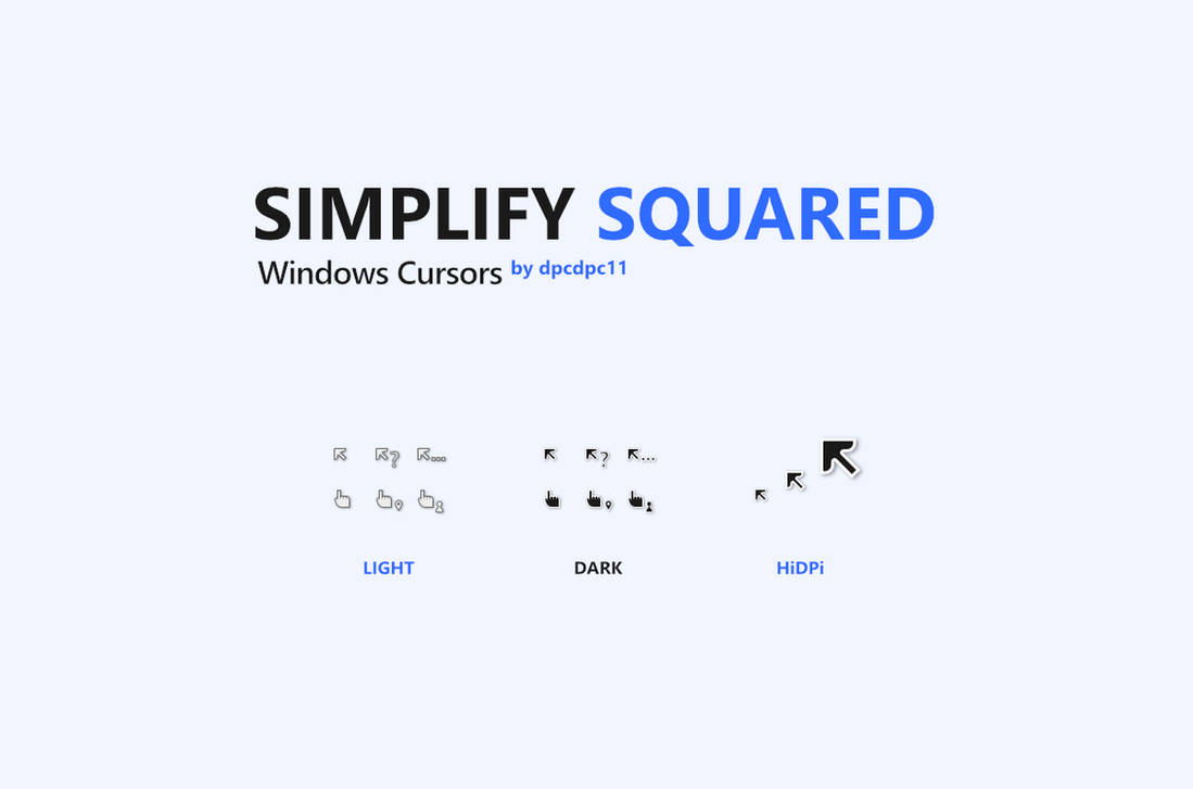 Simplify Squared Windows Cursors