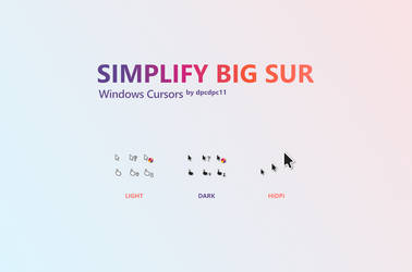Simplify Big Sur Windows Cursors