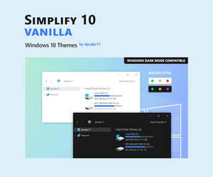 Simplify 10 Vanilla - Windows 10 Theme