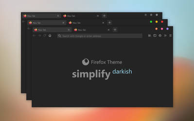 Simplify Darkish - Firefox Theme