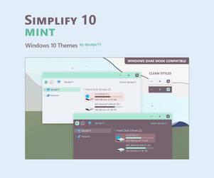 Simplify 10 Mint - Windows 10 Theme by dpcdpc11