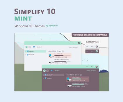 Simplify 10 Mint - Windows 10 Theme