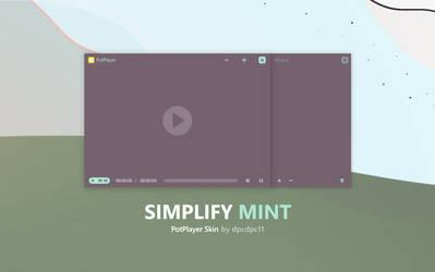 Simplify Mint - PotPlayer Skin by dpcdpc11