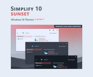 Simplify 10 Sunset - Windows 10 Theme