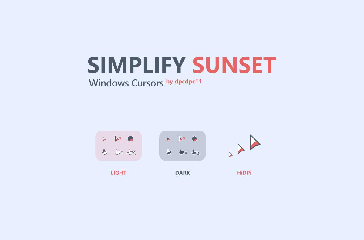 Simplify Sunset - Windows Cursors