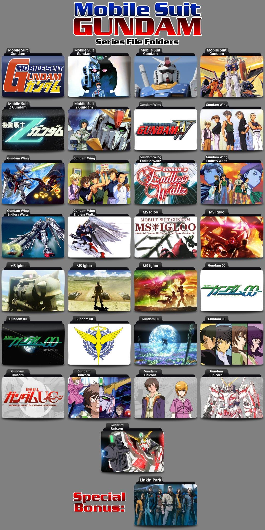 Gundam Folder Icons Volume 01 by Kjasi