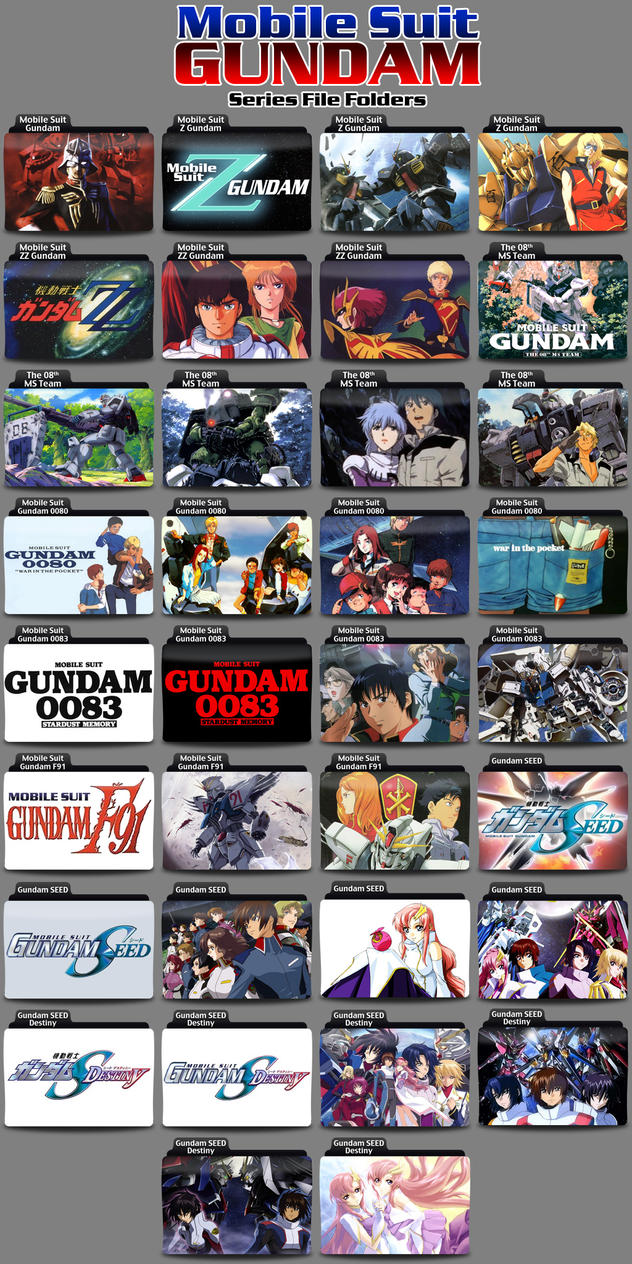 Gundam Folder Icons Volume 02 by Kjasi